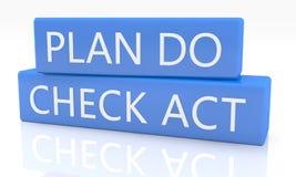 Plan Do Check Act Royalty Free Stock Photography