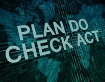 Plan Do Check Act Stock Photo