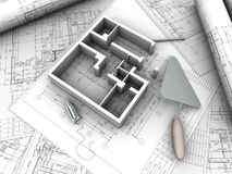 Plan drawing Stock Images