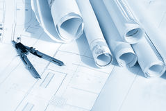 Plan drawing Stock Photography