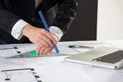 Plan drawing Stock Image