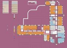 Plan Drawing Public Building Royalty Free Stock Photos