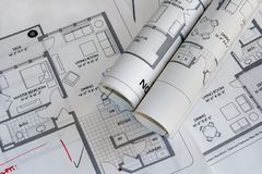 Plan drawings 2 Royalty Free Stock Photo