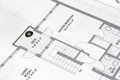 Plan drawings 3 Stock Photography