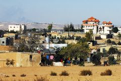 Plan du sud de cordon de l'Israël reconnu Photographie stock