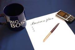 plan działalności gospodarczej Zdjęcie Stock