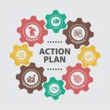 Plan działania Pojęcie z ikonami ilustracji