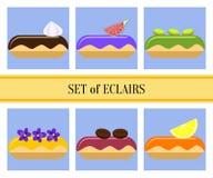 Plan eclairsuppsättning Royaltyfri Fotografi
