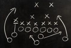 Plan eines Fußballspiels Stockfoto