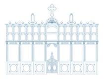 Plan eines Iconostasis Lizenzfreie Stockbilder