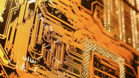 Plan elcectronic de plan rapproché de vue de Mainboard banque de vidéos