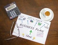 Plan empresarial Foto de archivo libre de regalías