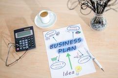 Plan empresarial Imagen de archivo libre de regalías