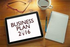 Plan empresarial 2016 Imagen de archivo libre de regalías