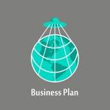 Plan empresarial de asumir el control el planeta imagen de archivo