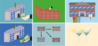 Plan empresarial - edificio para el alquiler Imagen de archivo libre de regalías