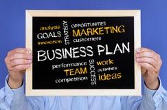 Plan empresarial en la pizarra Fotografía de archivo