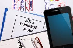 Plan empresarial para 2013 Fotografía de archivo