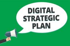 Plan estratégico de Digitaces del texto de la escritura El significado del concepto crea el horario para el te de comercializació libre illustration