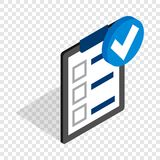 Plan is executed isometric icon Stock Images