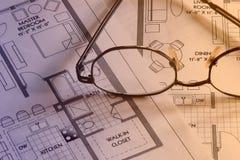 plan för 4 teckningar Fotografering för Bildbyråer