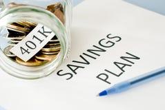 plan för besparingar 401k Royaltyfri Bild