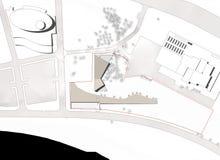 plan för byggnadsgolvjordning Arkivbild