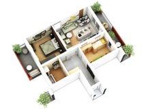 plan för golv 3d arkivfoto