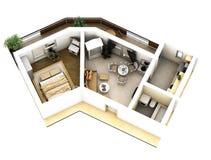 plan för golv 3d stock illustrationer