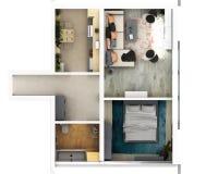 plan för golv 3d vektor illustrationer