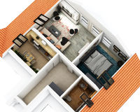 plan för golv 3d royaltyfri illustrationer