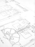 plan för hotell för byggnadskonstruktion Royaltyfria Foton