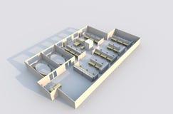 plan för kontor 3d Royaltyfri Bild