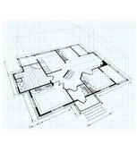 plan för landshus Royaltyfri Bild