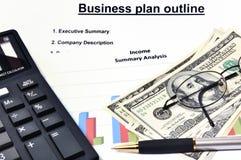 plan för pengar för analysaffär grafiskt Royaltyfri Bild