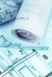 Plan für ein Haus Stockbilder