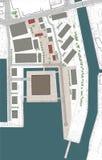 plan för byggnadskomplexgolvjordning royaltyfri illustrationer