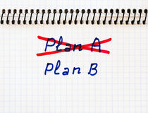 Plan A failed we need plan B Stock Photo
