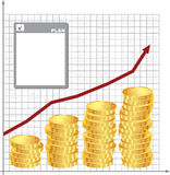 Plan for financial growth. Financial schedule and background plan Stock Image