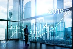 2019 Plan for Financial growth. Business and investment concept. royalty free stock photo