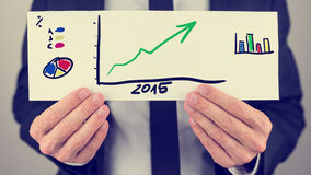 Plan financiero del negocio para 2015 Imágenes de archivo libres de regalías