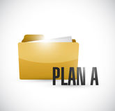 Plan a folder illustration design Royalty Free Stock Photos