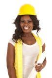 Plan för hård hatt för leende Fotografering för Bildbyråer