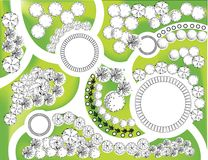 Plan of garden Stock Photography