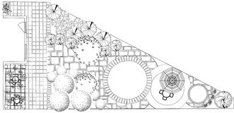 Plan of garden Royalty Free Stock Photo
