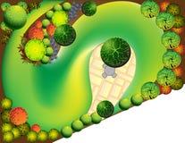 Plan of garden royalty free illustration