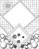 Plan of garden black and white Stock Photography