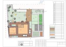 Plan of garden land Royalty Free Stock Photography