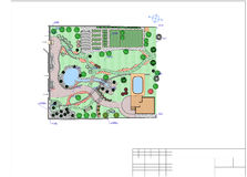 Plan of garden land Stock Images