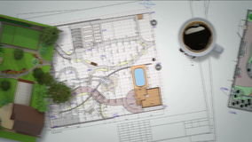 Plan of garden land stock video